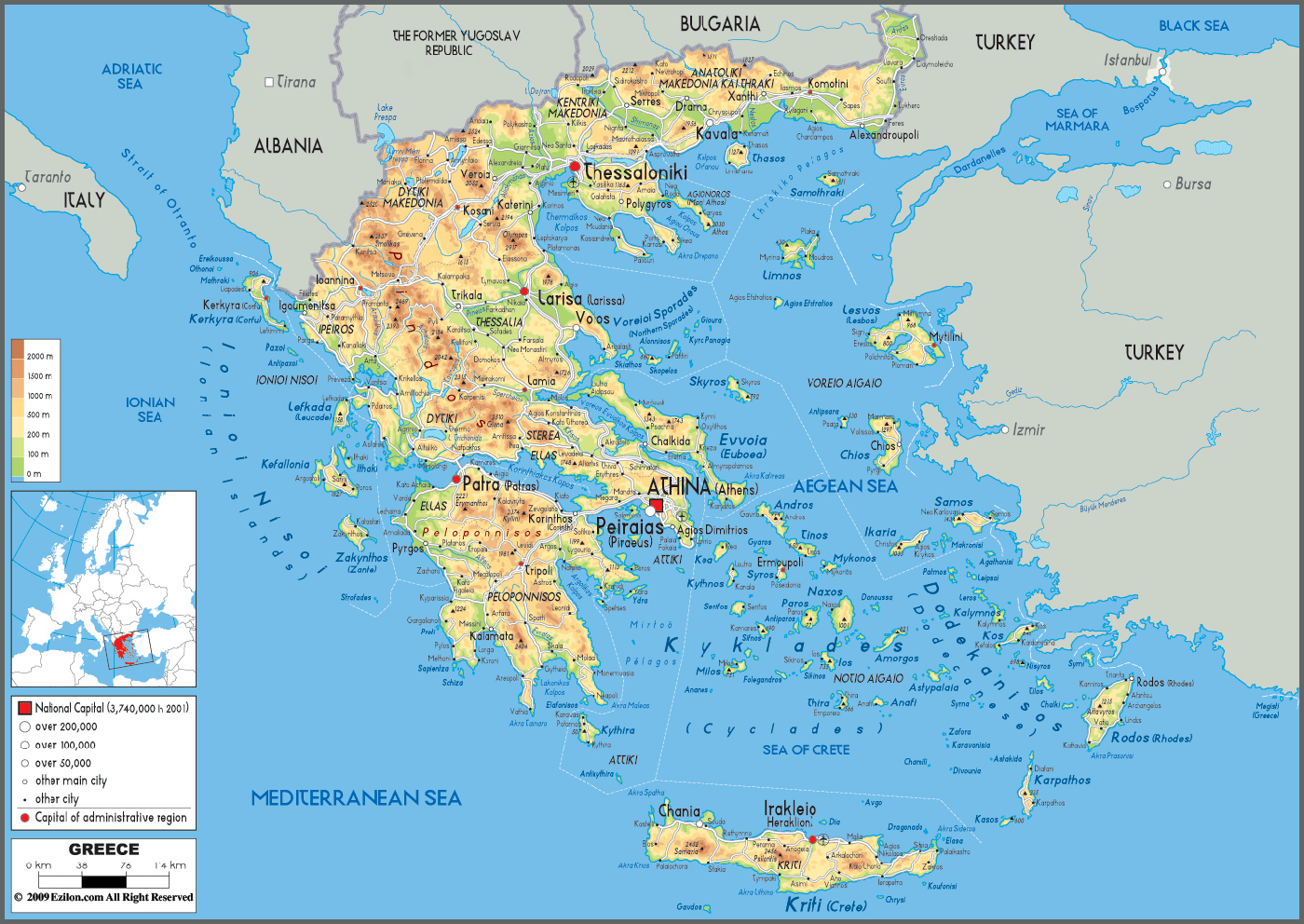 Kos map kos island town greece maps information brochures greece map gumiabroncs Choice Image